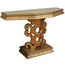 james and james tables gold leaf console table in the manner of james mont for sale at 1stdibs