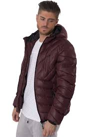 kangol mens quilted puffer zip up jacket streetwear hooded winter