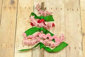 scrap ribbon twig tree ornament factory direct craft