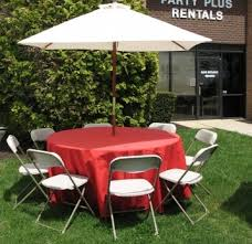 chairs and tables rentals umbrella with table 60 8 chairs table linen j n
