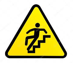 foto bagnate avvertimento segno per scale scivolose quando ã bagnate â foto