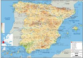 Spain Map World by Geoatlas Countries Spain Map City Illustrator Fully