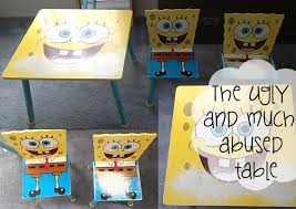 Spongebob Chair Diy Furniture Makeovers Kiddie Table And Chairs