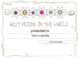templates for award certificate printable 30 best friend certificate templates blank certificate template