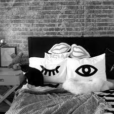 winking eyes pillowcase set in black eyelash pillow novelty