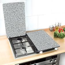 mathon cuisine set 2 couvre plaques protection motifs granit protection plaques