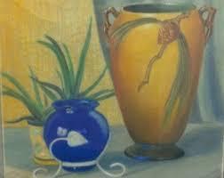 Roseville Pinecone Vase Pinecones Still Life Etsy