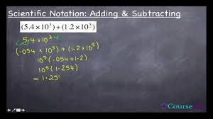 adding and subtracting scientific notation worksheets of with