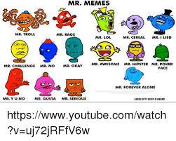 I Lied Meme Face - mr memes mr troll mr rage mr lol mr cereal mr i lied mr awesome mr
