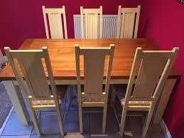 Oak Dining Room Solid Oak Dining Table And 6 Chairs
