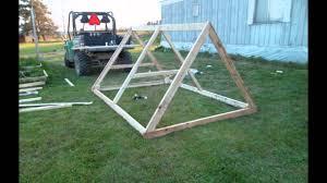 small backyard chicken tractor youtube