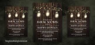 Mason Jar Bridal Shower Invitations Mason Jar Bridal Shower Invitations Vintage Rustic Wedding