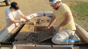 Boat Carpet Adhesive Bass Boat Restoration Day One Front Deck Carpet Removal Youtube