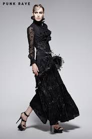 q 246 gothic high waist dress long evening dresses