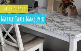 diy marble table quick and easy table makeover youtube