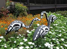 how to make easy halloween decorations at home halloween skeleton flamingo the home depot community