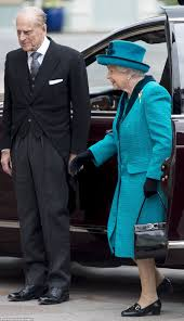 The Queen And Prince Philip Visit Leicester Cathedral Daily Mail