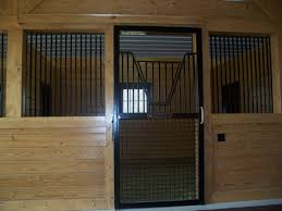 Sliding Horse Barn Doors by Centered Stall With Custom Mesh Door Precise Buildings