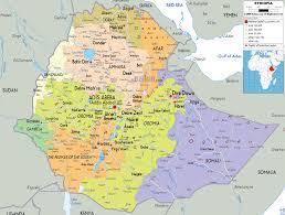 A New Map Of Jewish by Map Of Ethiopia And Ethiopian Political Map Maps Pinterest