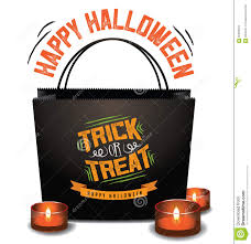 trick or treat halloween bag with green moon stock illustration