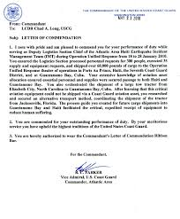 Letter Of Commendation Chad Long