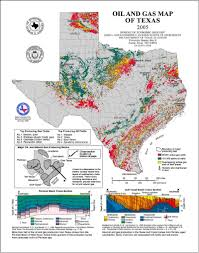 Map Of East Texas Oil And Gas Production Texas