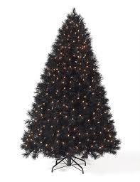 9 ft black clear lit tree tree market