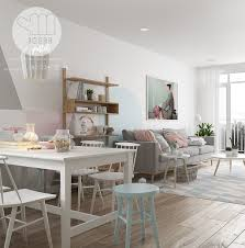 Dining Room Wall Decals Designs By Style Scandinavian Pastel Dining Room Wall Decal