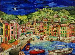 Linnea Pergola Artist by Portofino Italy Wooden Jigsaw Puzzle Liberty Puzzles Made