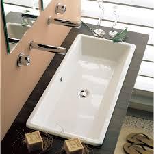 troff sinks bathroom scarabeo 8033 by nameek u0027s gaia rectangular white ceramic drop in