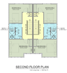 second floor plan u2013 geneseo apartments new off campus townhomes