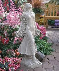 flora patroness of gardens statue by design toscano