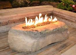 Uniflame Propane Fire Pit - gas fire pit in a boulder stone fire pit table uniflame faux stone