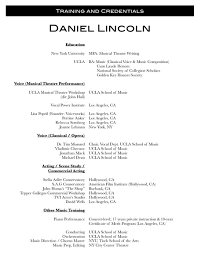 Commercial Acting Resume Format Training Resume Resume Cv Cover Letter