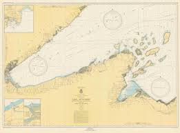 Map Of Lake Superior Print Of West End Of Lake Superior Litte Girls Point Mich To