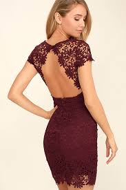 lace dress backless dress burgundy dress lace dress 58 00