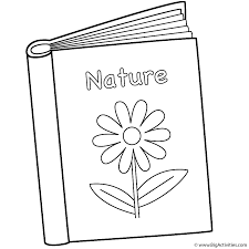 nature book coloring page 100th day of