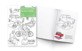 spring coloring book dementia active minds