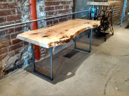 maple coffee table thin metal legs woodrich pa