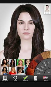 how to see yourself in a different hair color celebrity hairstyle salon android apps on google play