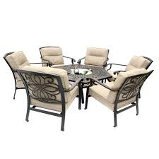 6 seater patio furniture set gregg wallace 6 chair firepit set with 150cm low hexagonal table