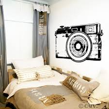 retro camera customizable wall decal request a custom order and have something made just for you