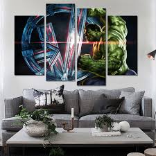 avengers home decor aliexpress com buy 4 piece iron man the avengers art paintings