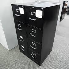 used hon file cabinets used hon 4 drawer vertical file cabinet black fiv1516 003 office