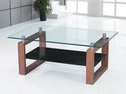 glass coffee table with glass shelf clear glass coffee table with black glass shelf homegenies