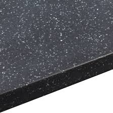 34mm black star round edge worktop l 3000mm d 605mm