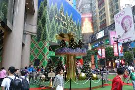 tree decor going up at times square picture of times