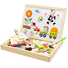 thanksgiving toys wooden farm land sided puzzle drawing board children s