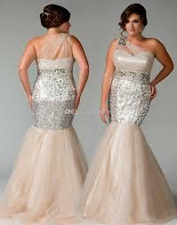 Cheap Clothes For Plus Size Ladies Fabulous Champagne Beads Plus Size Prom Dresses Mermaid Sequins