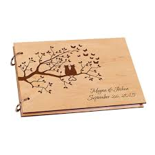 personalized wedding guestbook personalized rustic wooden wedding guestbook classywooden
